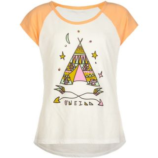 Tee Pee Magic Girls Tee White In Sizes Large, X Large, Medium, Small Fo