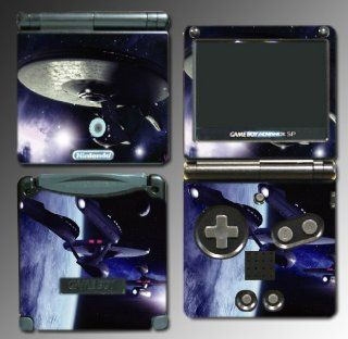Star Trek Into Darkness USS Enterprise Spock Movie 2 Video Game Vinyl Decal Cover Skin Protector for Nintendo GBA SP Gameboy Advance Game Boy Video Games