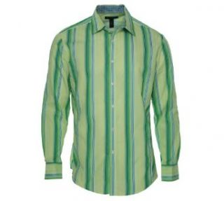 INC International Concepts Men's Striped Long Sleeve Shirt at  Men�s Clothing store