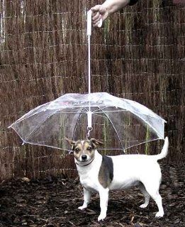 Pet Umbrella (Dog Umbrella) Keeps your Pet Dry and Comfortable in Rain   Novelty Gag Gift  Pet Leashes