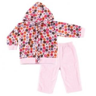 Hudson Baby Baby girls Fleece Hoodie & Pants Infant And Toddler Bodysuits Clothing