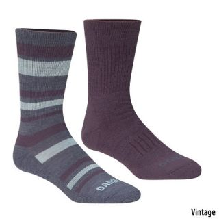 Womens Stripe/Solid Crew Socks 2 Pack 445368