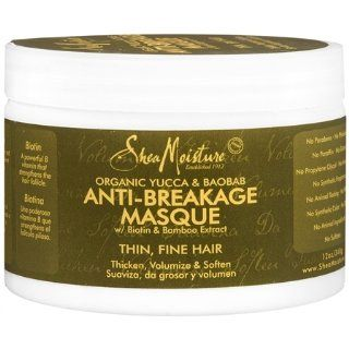 Shea Moisture Organic Yucca & Baobab Anti Breakage Masque 12 oz  Hair Styling Creams  Beauty