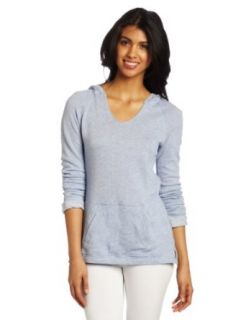 Calvin Klein Performance Women's Hooded Pullover Top, Chambray Heather, Small Clothing