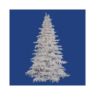 Vickerman Co. Flocked White Spruce 4.5 Artificial Christmas Tree with 225 LED Warm White Lights with Stand Christmas Decor