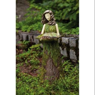 30 Woodland Inspiration Green Fern Lady Bird Feeder Outdoor Garden Statue Patio & Outdoor Decor