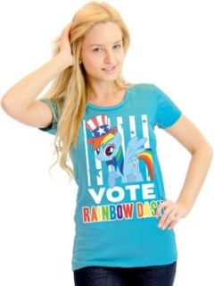 My Little Pony Vote Rainbow Dash President Hat Juniors Light Blue T Shirt Clothing
