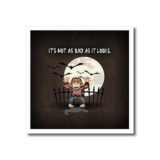 ht_150033_3 Dooni Designs Halloween Designs   Its Not As Bad As It Looks Spooky Werewolf Teen Wolf Movie Quote   Iron on Heat Transfers   10x10 Iron on Heat Transfer for White Material Patio, Lawn & Garden