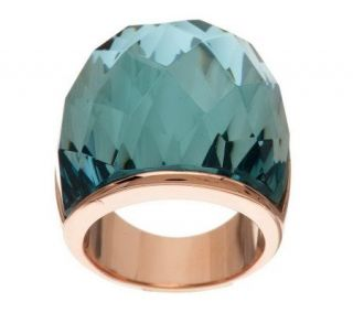 Bronzo Italia Bold Domed Faceted Glass Ring —