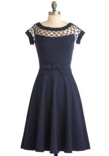 Tatyana/Bettie Page With Only a Wink Dress in Navy  Mod Retro Vintage Dresses