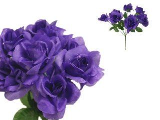 252 Silk Open Roses Wedding Flowers Bouquets   Purple   Artificial Flowers