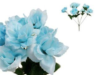 Shop 252 Silk Open Roses Wedding Flowers Bouquets   Light Blue at the  Home D�cor Store