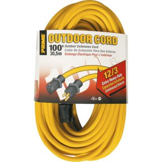 Prime Wire 12/3 SJTW 100 Foot Extension Cord