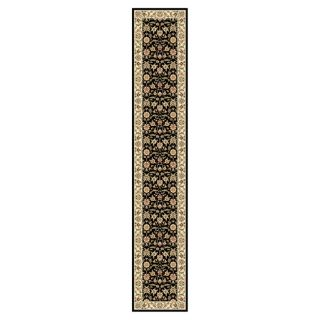 Lyndhurst Collection Traditional Black/ivory Polypropylene Runner (23 X 12)