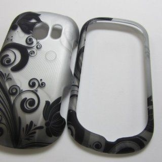 RUBBERIZED HARD PHONE CASES COVERS SKINS SNAP ON FACEPLATE PROTECTOR FOR LG VERIZON WIRELESS EXTRAVERT VN271 UN271 /BLACK VINE ON SILVER (WHOLESALE PRICE) Cell Phones & Accessories