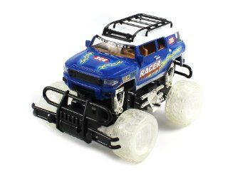 LIGHT UP MONSTER Electric Full Function Light Up Wheels Toyota FJ Cruiser Racer Monster RTR RC Truck (Colors May Vary) Toys & Games