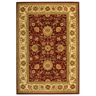 Lyndhurst Collection Majestic Red/ Ivory Rug (9 X 12)