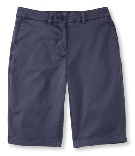 Summerwashed Twill Bermuda Shorts Misses