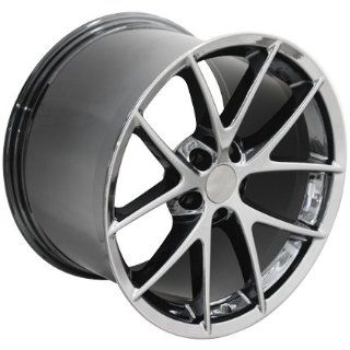 "18"" Fits Chevrolet   Corvette C6 Spyder Style Replica Wheel   PVD Black Chrome 18x9.5 Automotive"