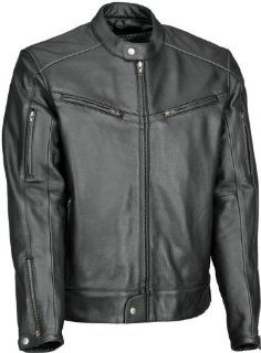 River Road Muskogee Cool Leather Jacket   40/Black Automotive