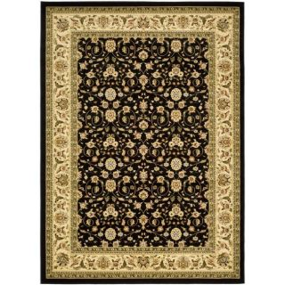 Lyndhurst Collection Traditional Black/ivory Oriental Area Rug (9 X 12)