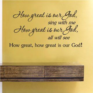 How great is our God sing with meVinyl Wall Decals Quotes Sayings Words Art Decor Lettering Vinyl Wall Art Inspirational Uplifting  Nursery Wall Decor  Baby
