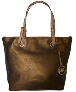 Michael Kors Bronze Leather Items Grab Bag Shoulder Tote Handbag Purse Clothing