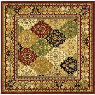 Lyndhurst Collection Multicolor/red Area Rug (6 Square)