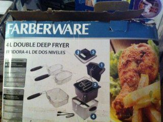 4L Dual Deep Fryer, Stainless Steel  Farberware Kitchen & Dining
