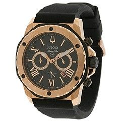 Bulova Mens Marine Star   98B104 Black Band/Black Face