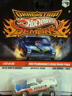 Hot Wheels Dragstrip Demons Don Prudhomme's Authentic Decos Army Snake Vega Real Rider Tires Extreme Detail Diecast Scale 1/64 Collector Toys & Games