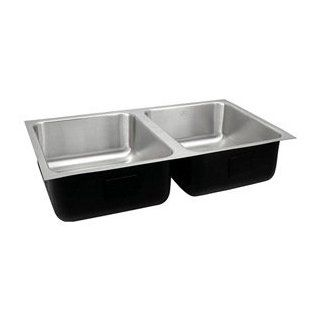 Just UD ADA 1832 A 5.5 DCR ADA Compliant Double Bowl 18 Gauge T 304 Commercial Grade Stainless Steel Undermount Sink