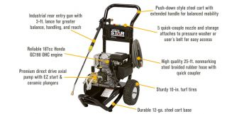 NorthStar Gas Cold Water Pressure Washer — 2.5 GPM, 3000 PSI, Model# 15775440  Gas Cold Water Pressure Washers