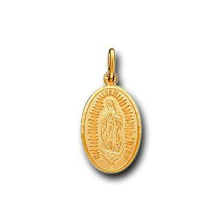 14K Solid Yellow Gold Virgin Guadalupe Charm Pendant IceNGold Jewelry