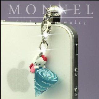 ip306 Luxury Hello Kitty 3D Charm Anti Dust Plug Cover For iPhone 4 4S Cell Phones & Accessories
