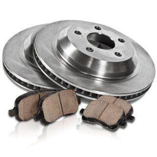 Callahan REAR Premium Grade OE 307.7 mm [2] Rotors + [4] Quiet Low Dust Ceramic Brake Pads Kit CK002600 Automotive