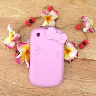 Hello Kitty light pink Silicone with bow Cover Case for Blackberry Curve 8520 8530 9300 Cell Phones & Accessories