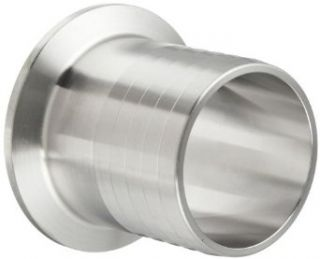 "Parker Sanitary Tube Fitting, Stainless Steel 304, Rubber Hose Adapter, 1 1/2"" Tube OD x 1 1/2"" Hose ID"