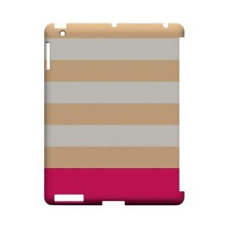 [Geeks Designer Line] Pink Candy Stripes w/ Pink Bar Apple iPad 2nd Gen Plastic Case Cover [Anti Slip] Supports Premium High Definition Anti Scratch Screen Protector; Durable Fashion Snap on Hard Case; Coolest Ultra Slim Case Cover for iPad 2nd Gen Support