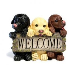 3 Light Welcome Dog Sign   Wall Porch Lights