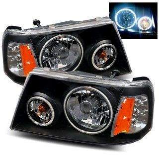 Ford Ranger Black CCFL Halo Headlights /w Amber Automotive