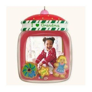 I Love Grandma Photo Holder 2008 Hallmark Keepsake Ornament   Decorative Hanging Ornaments