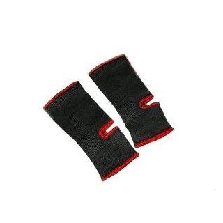 Thai Boxing, Martial ARTS Ankle Supports  Black/Red SENIOR (Pair)  Boxing And Martial Arts Shin Guards  Sports & Outdoors