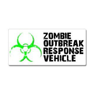 Zombie Outbreak Response Vehicle Green   Window Bumper Sticker Automotive