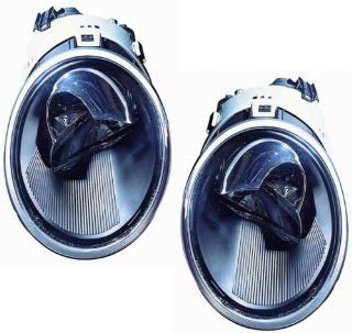 Volkswagen New Beetle Convertible/Hatchback Replacement Headlight Assembly (without Turbo)   1 Pair Automotive