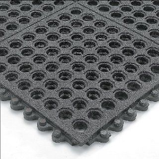 Wearwell 24/Seven Anti Fatigue Mat   Cutting Fluid Resistant Rubber   Drainage Tile With Gritworks Non Slip Coating   3X3'  Doormats  Patio, Lawn & Garden