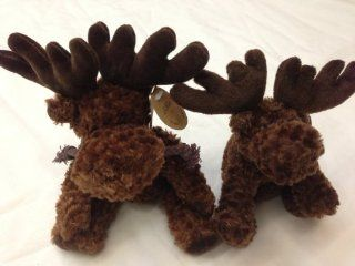 6 Inches Floppy Moose and 8 Inches Jointed Moose Stuffed Toy , 2 Pcs/set Toys & Games