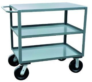 "Jamco Products Inc SK336 P8 GP Three Shelf Service Cart, 4800 Pound Capacity, 30"" x 36"""