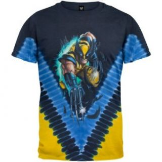 X Men Wolverine Rip Out Tie Dye T Shirt, Small Clothing