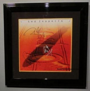Led Zeppelin Autographed Boxed Set Album Entertainment Collectibles